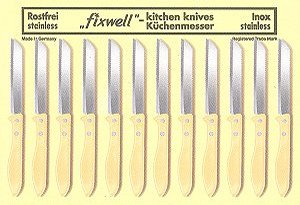Kitchen Knives - 12 pcs. card